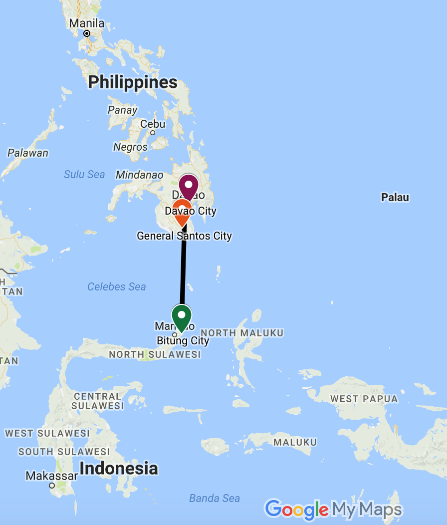 Philippines Indonesia Trade Route Map
